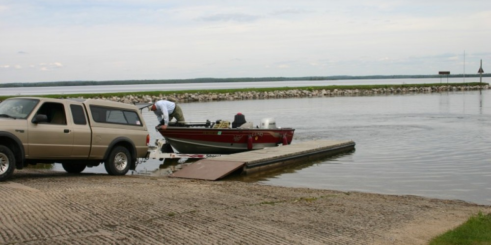 Boat launch ramp at Kabetogama Lake Visitor Center – NPS