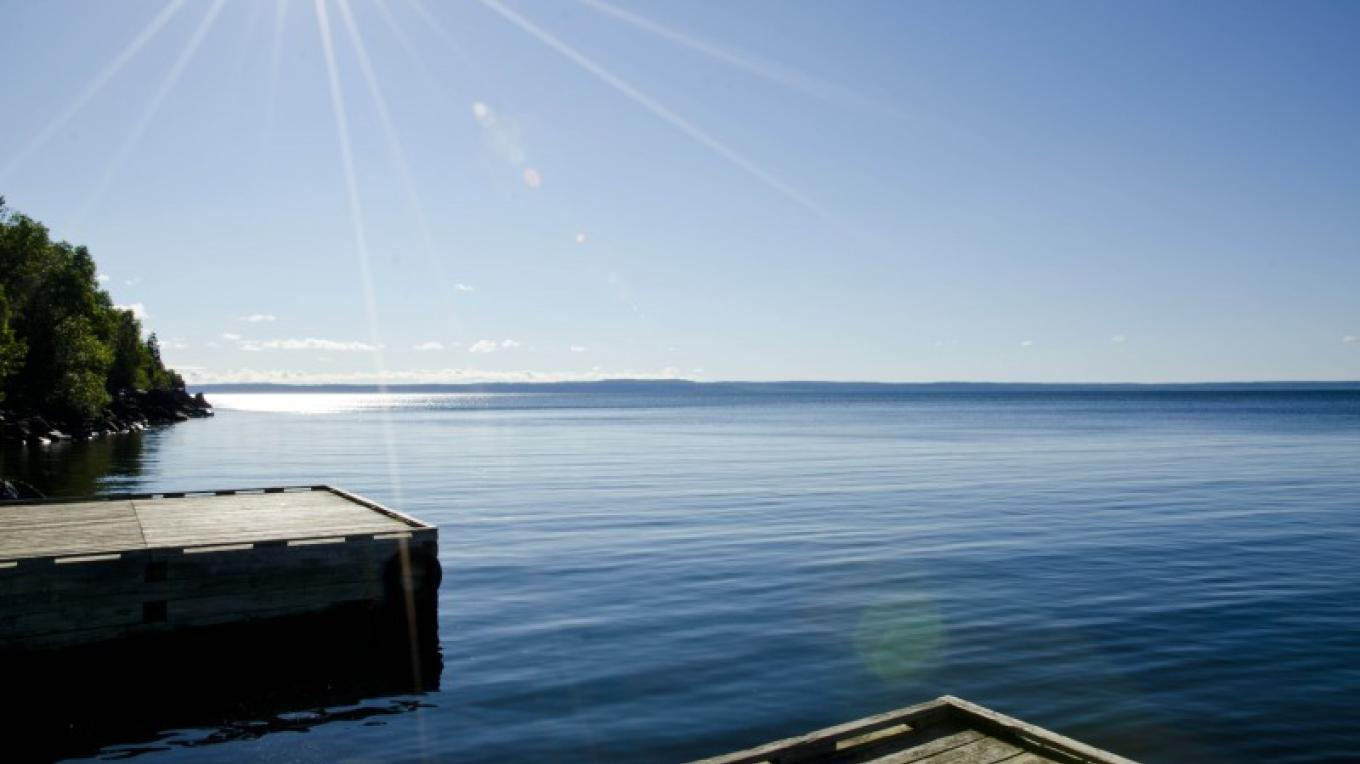 View of Lake Superior from the Silver Harbour Conservation Area Boat Launch – LRCA Staff
