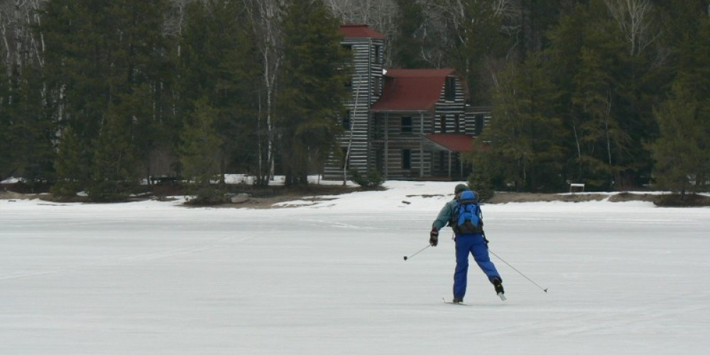 Skiing in to the White Otter Castle – C Stromberg