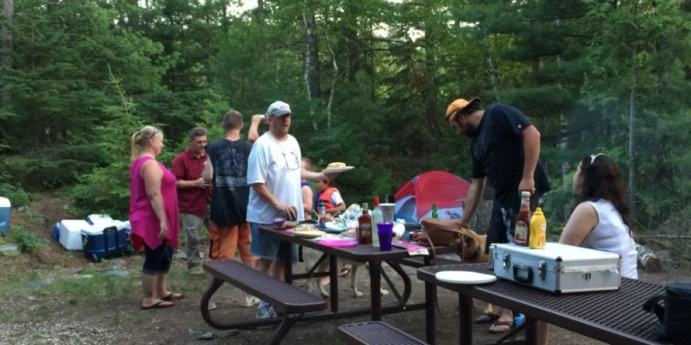 Shore lunch at a day use site in Voyageurs National Park – Eric Johnson
