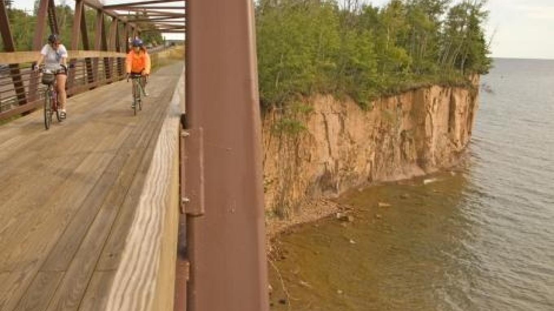 Gitchi-Gami State Trail Bridge near Twin Points Landing – Paul Sundberg