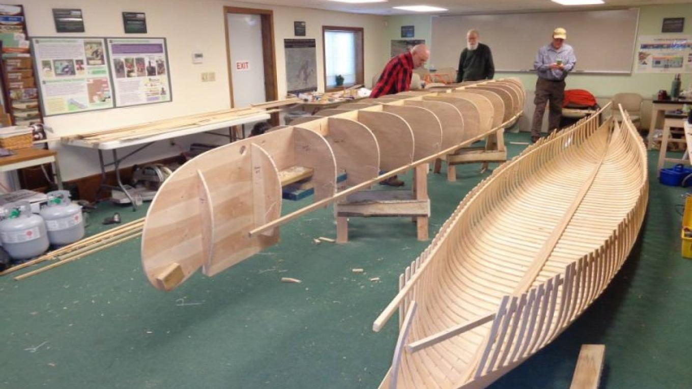 Wood and Canvas Canoe Making Workshop - sustainable non-timber forest product class promoting outdoor recreation. – John Geissler