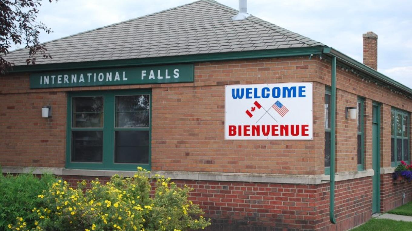 The east side of the building includes a welcome to visitors from Canada, the first building on the left as you enter the U.S. – Pete Schultz
