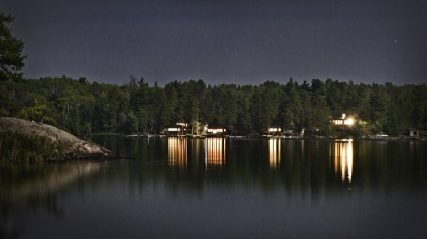 Great shot of the lodge at night. – Tom Pearson