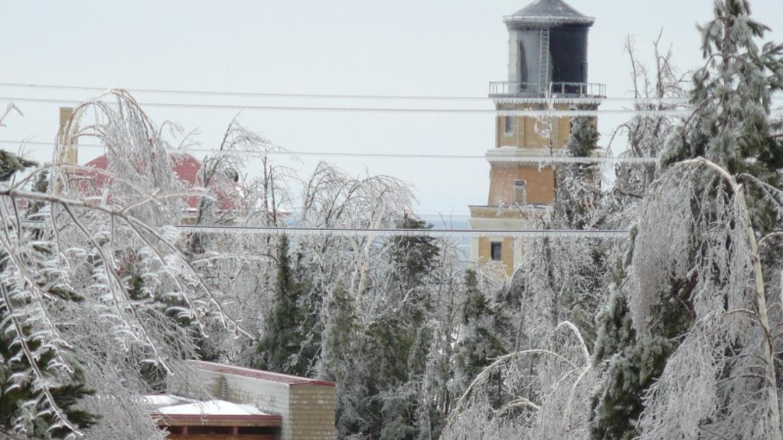 A March ice storm at Split Rock Lighthouse – Lee Radzak