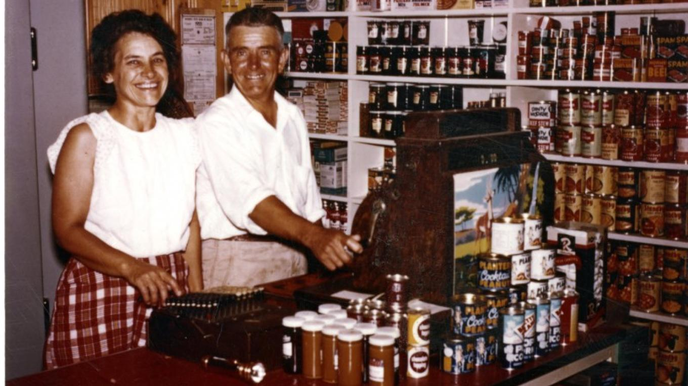 Ted and Fern Monson in the resort store – MHS