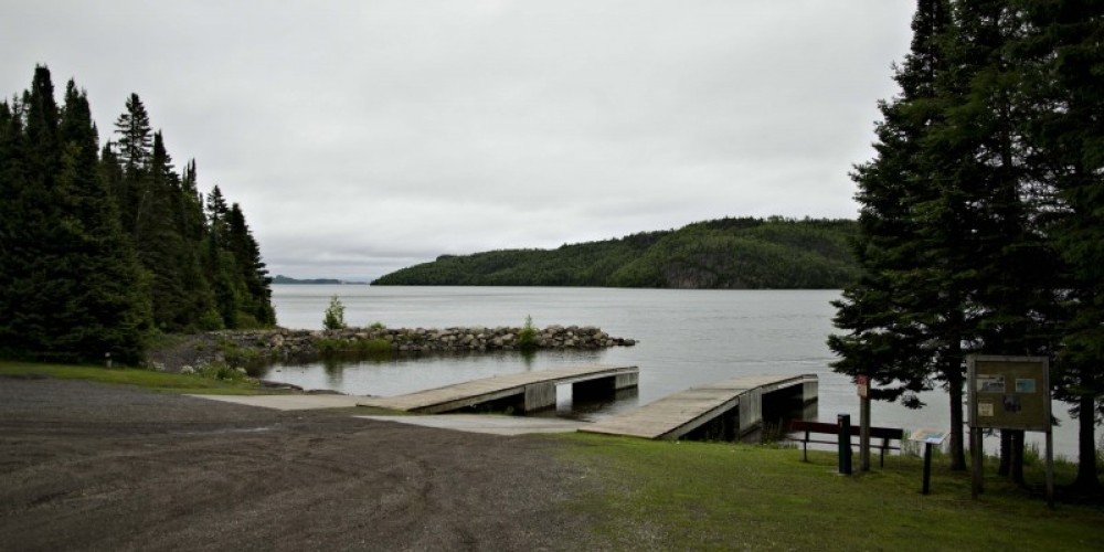 View of the boat launch at Little Trout Bay Conservation Area – LRCA Staff