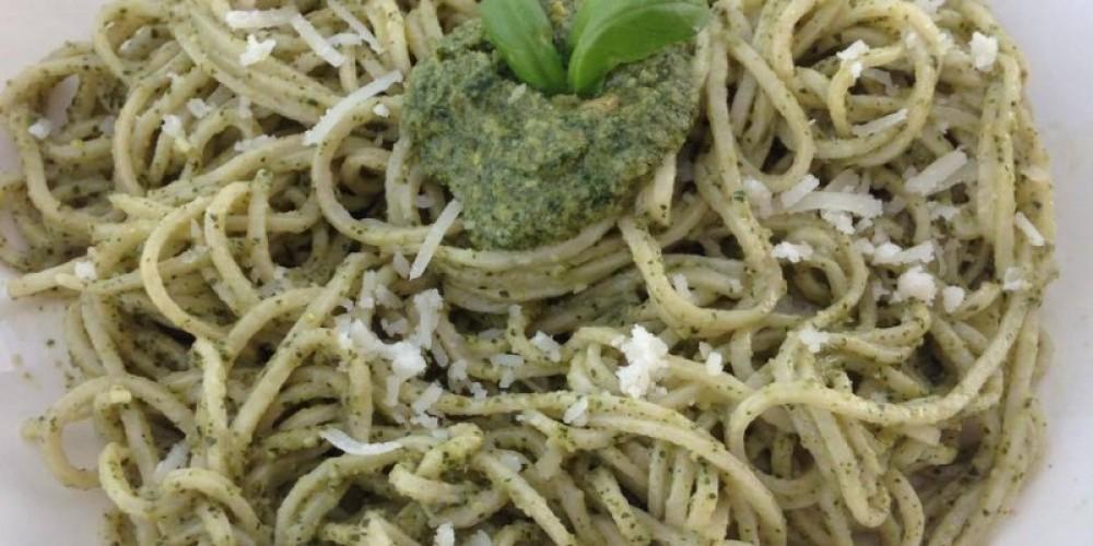 Pesto on Capellini – K Pizzolato