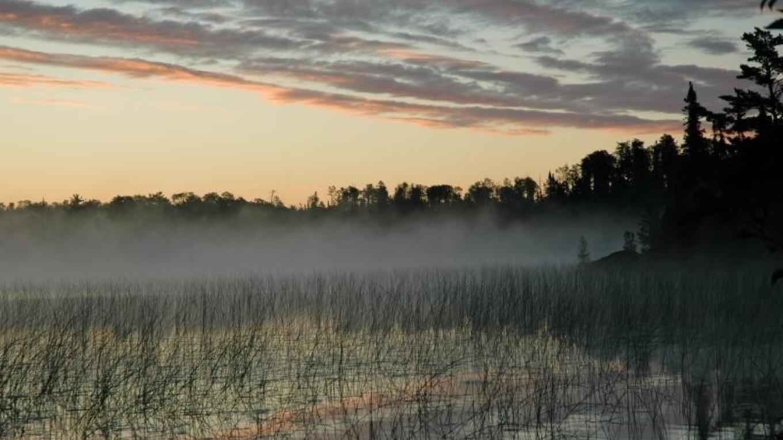 Sunset on Niobe lake