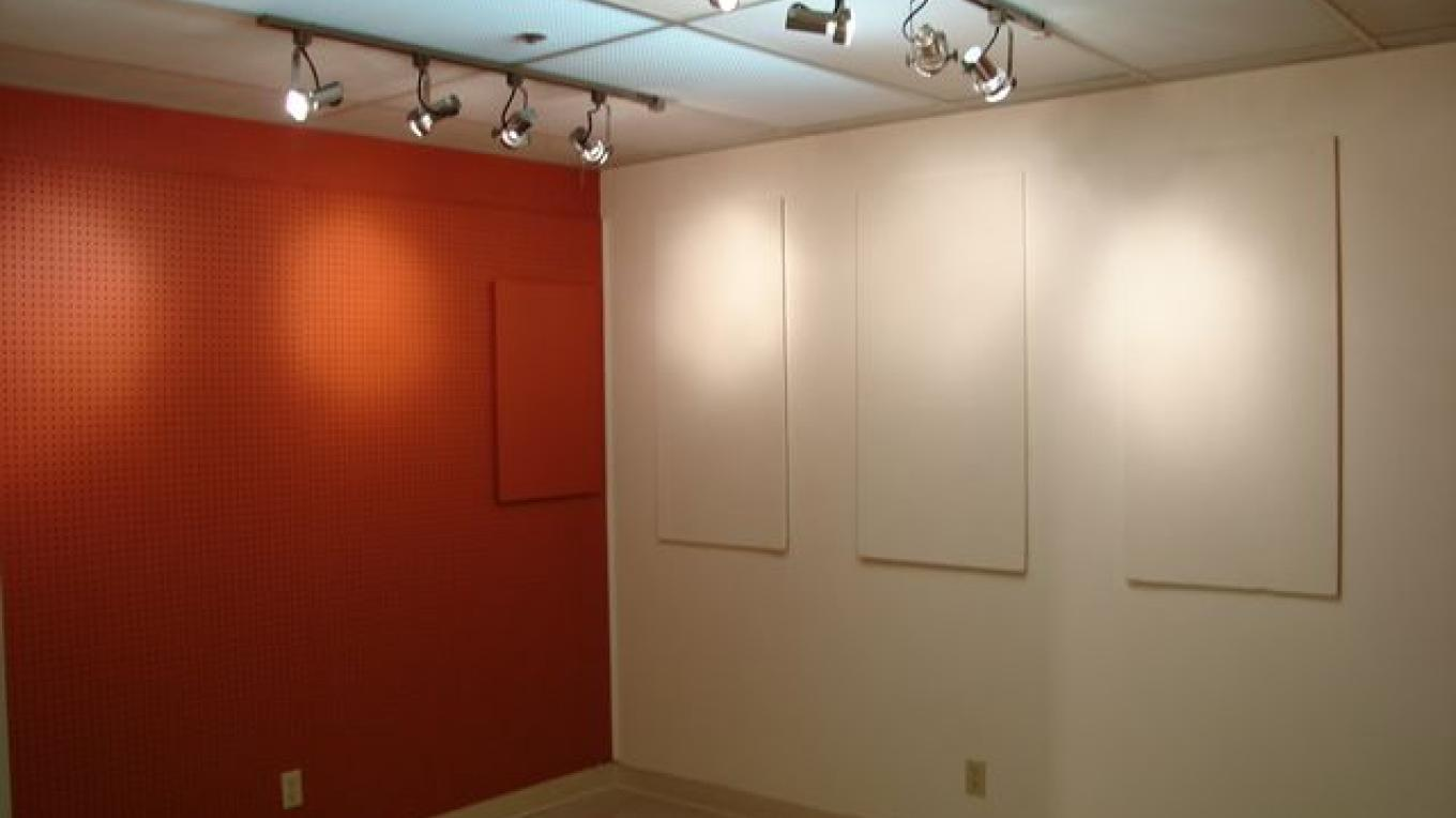 Display space available including track lighting for artists to setup and show their art. – Pictograph Art Gallery