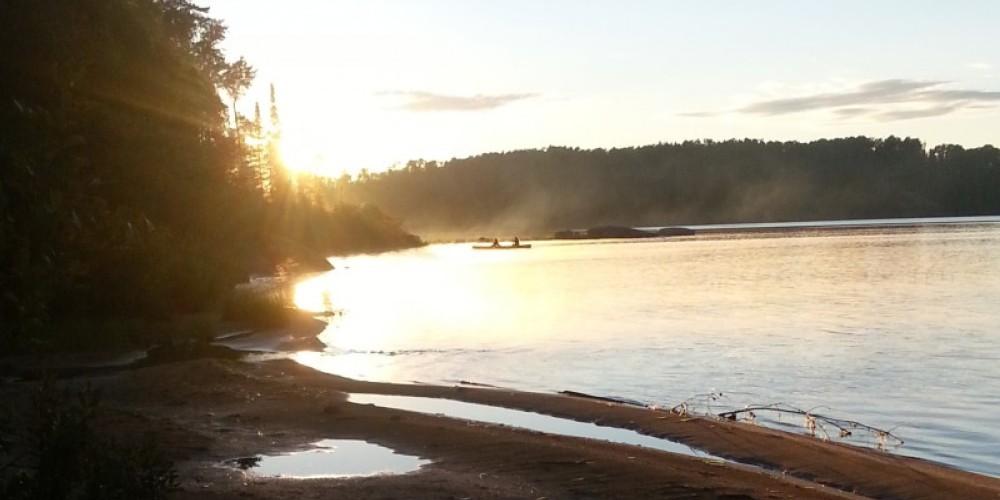 Ojibwa canoe launch beach