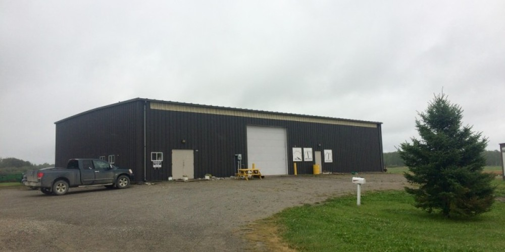 The Research Station building which consists of a lab and a shop for our machinery. – Nicholas Donaldson