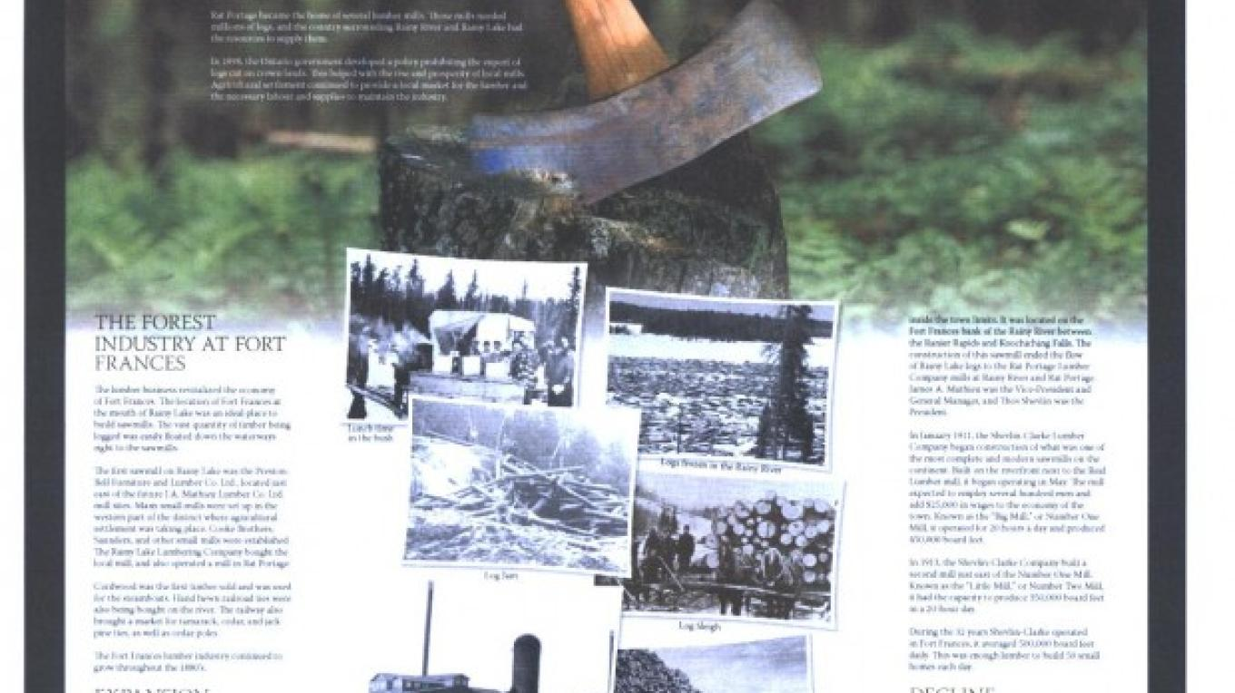 Forestry - the mainstay to early town development – Museum Archives