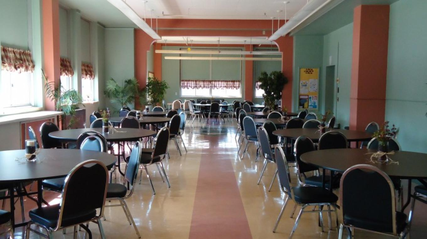 Dining Room, seats 100+, available for rental for all occasions! – Backus Staff