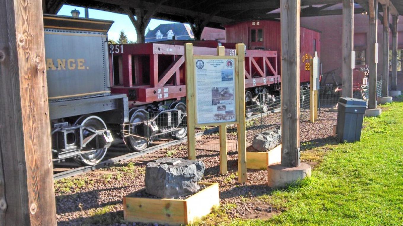 Ore Car caboose and new interpretative panels – Mel Sando