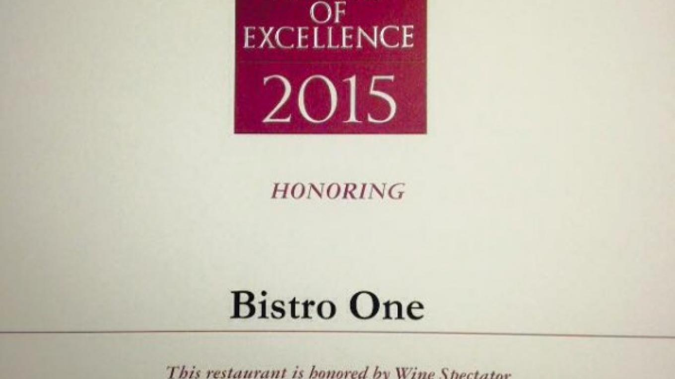 Bolstering their reputation as one of Thunder Bay's amazing culinary experiences, Bistro One achieved the Wine Spectator Award of Excellence. Congratulations Bistro One! – Bistro One Facebook