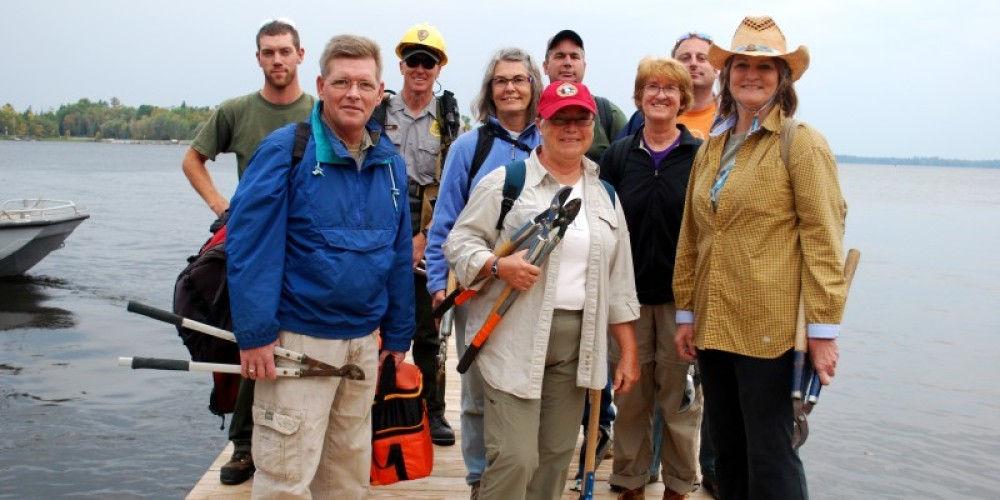 Volunteers at Voyageurs National Park Association's annual fall Volunteer Rendezvous. – Christina Hausman