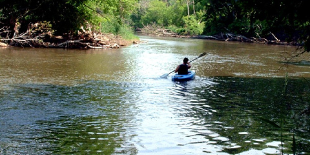 Paddling the Whiteface River