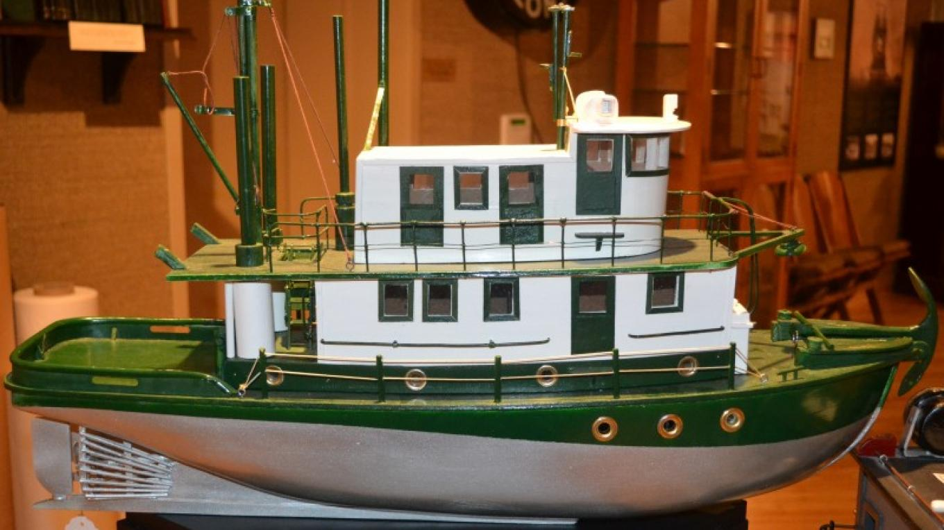 Model of the Hallett, the Logging Tugboat, in the Forestry Exhibit – Jillian Berry