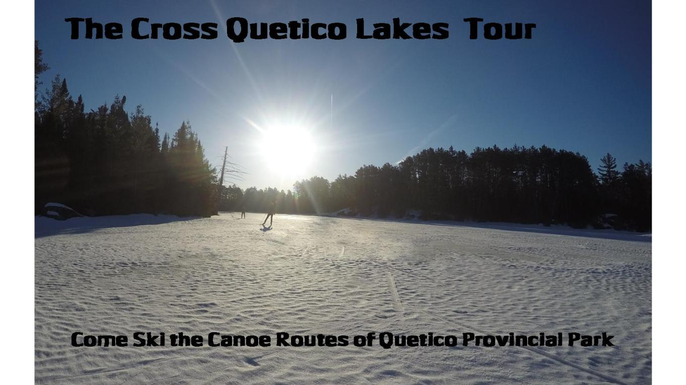 Skiing the frozen canoe routes of Quetico –