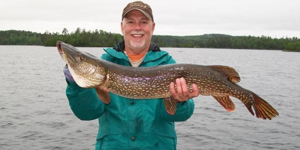 Pike catch by a camper. – Via Amberlite website (www.amberlite.ca) Ran by Rachel Macsemchuk