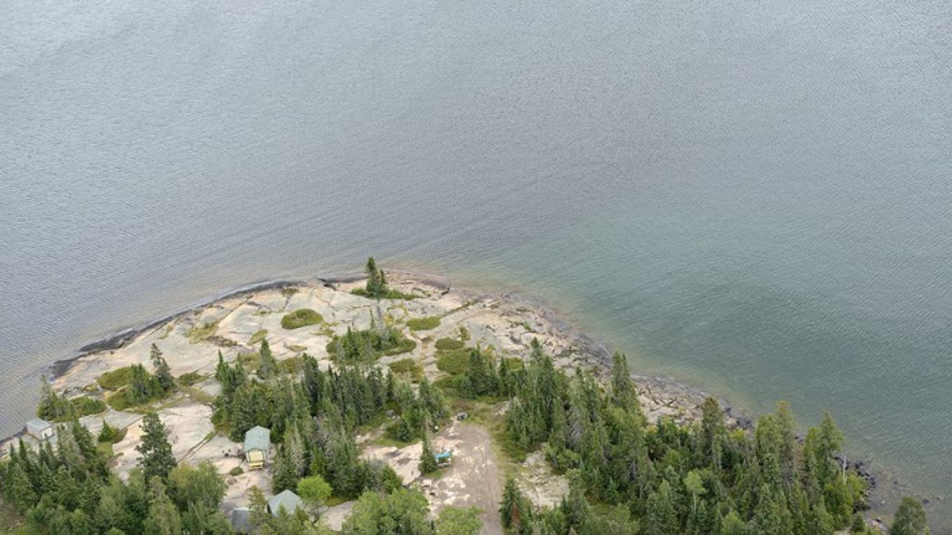 Aerial view of MacKenzie Point Conservation Area