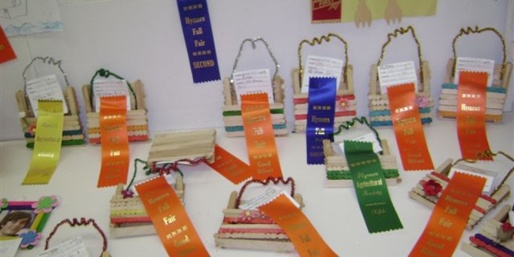 Ribbons given out in the Exhibit Hall