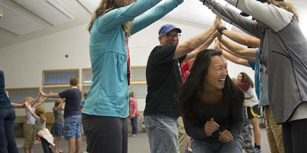 Dance, swing and laugh with new friends to a live contra ensemble after the banquet on the final night. – Wolf Ridge Environmental Learning Center