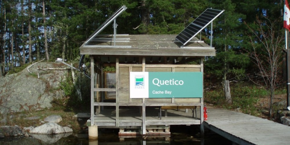 Cache Bay Saganaga Lake Entry Station