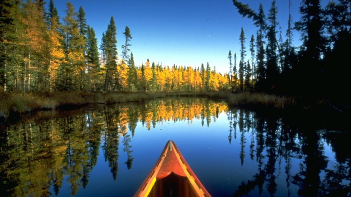 Appreciate the wilderness from the ideal viewpoint: the seat of a canoe. – J. Brandenburg