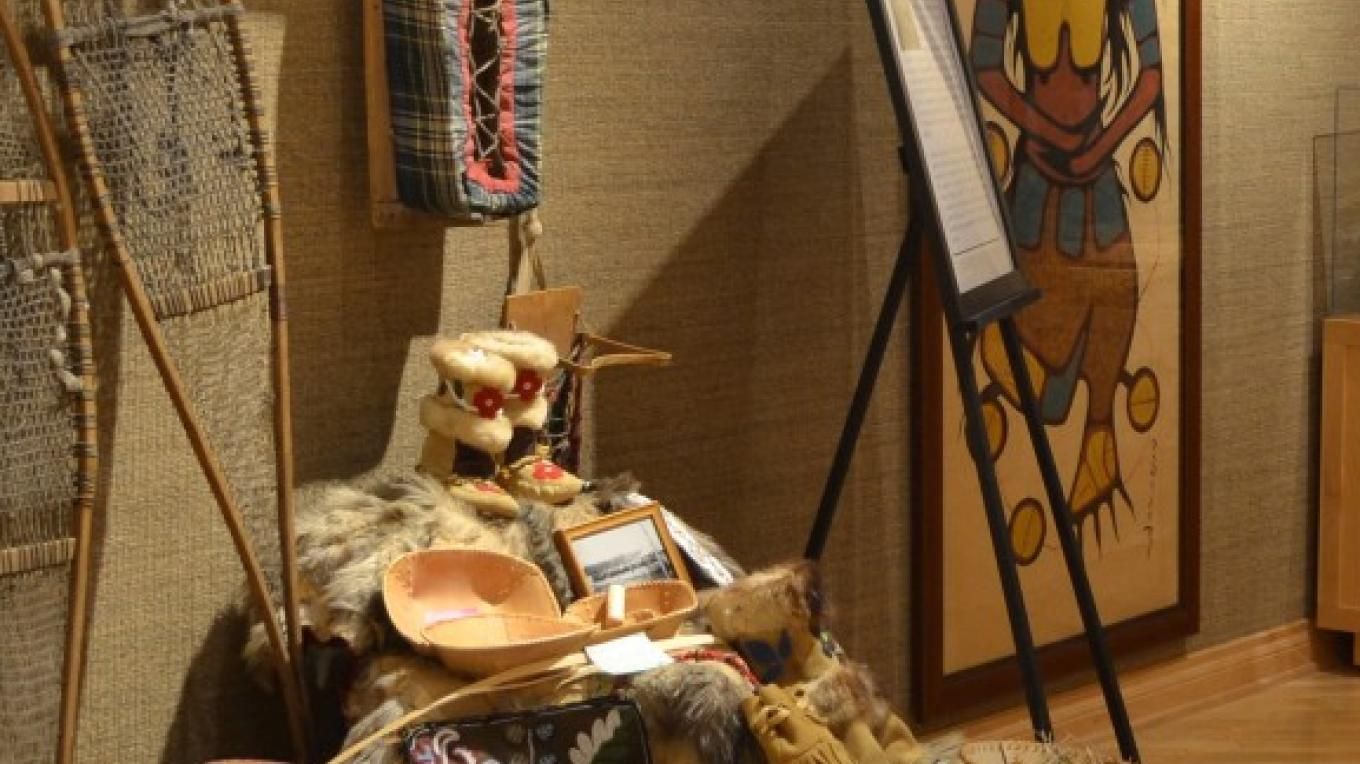 First Nations exhibit featuring painting by Norval Morrisseau – Jillian Berry