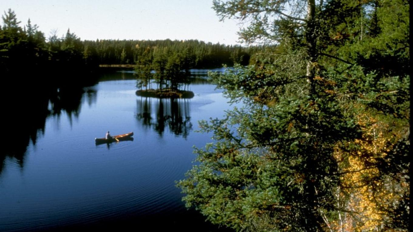 Peace and quiet on West Bearskin Lake in the Boundary Waters. – J. Brandenburg