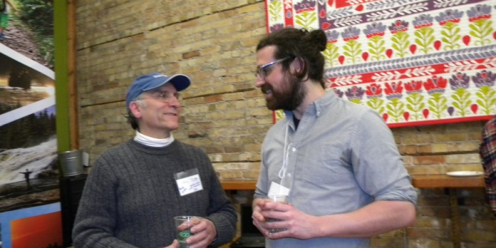 Our friend Randy Larson from Starry Skies Lake Superior IDA with Symposium Coordinator Jesse Engebretson