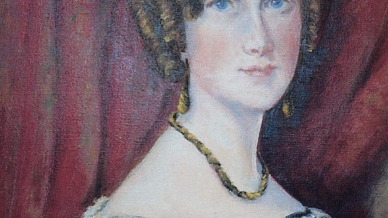 Painting of Lady Frances Simpson by Signe Green – Fort Frances Museum