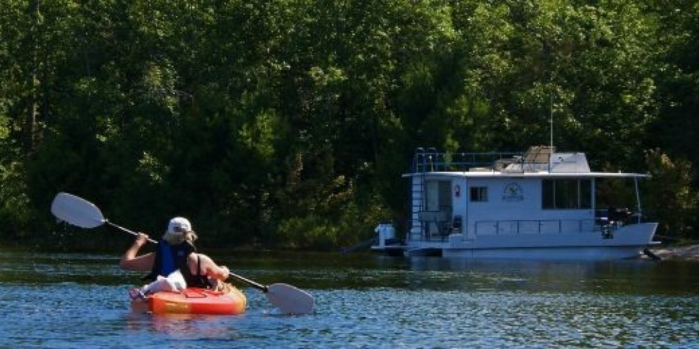 Kayaking on Rainy Lake