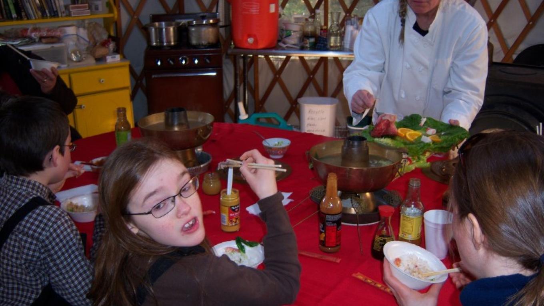 Mongolian Firepot Dinner at Yurt