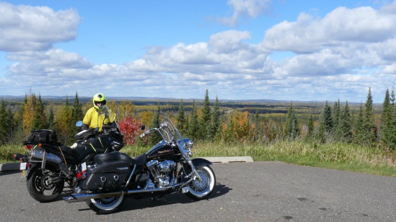 Skibo Vista on Superior National Forest Scenic Byway in the fall – Lee Radzak