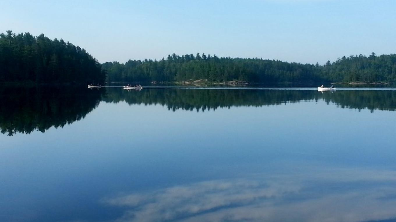 Calm water on Crooked Lake - QUETICO