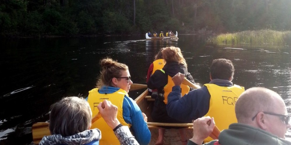 Voyageur Canoes on the Pickerel River
