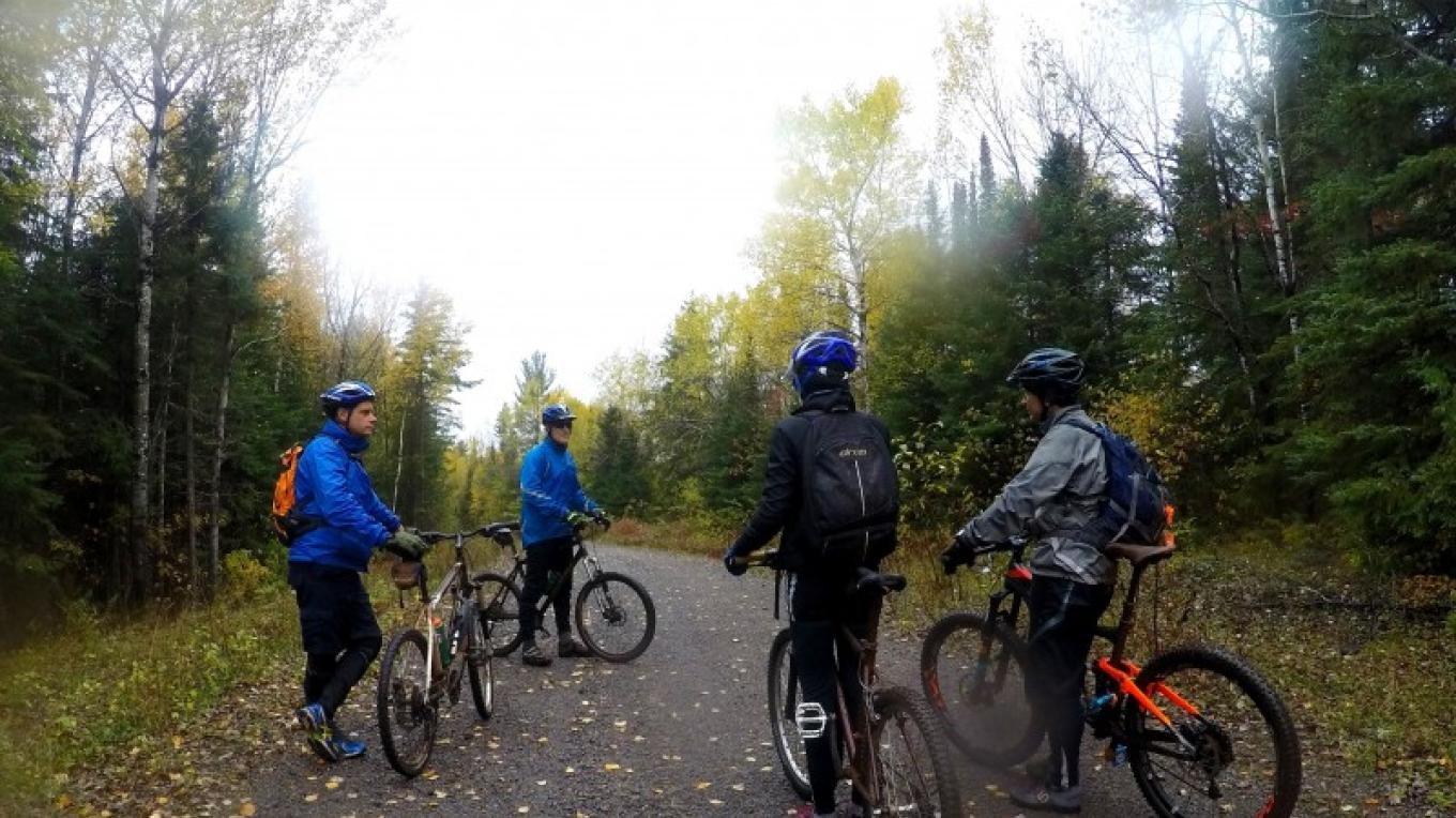 Great group of hardy folks out in wet October – C Stromberg
