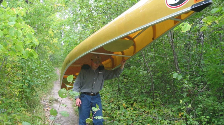 Portaging a kevlar canoe – Steve Nelson
