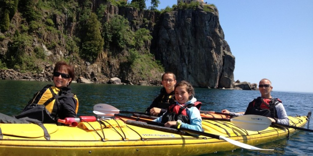 Kayaking on Lake Superior on the Split Rock Lighthouse Tour – Positive Energy Outdoors
