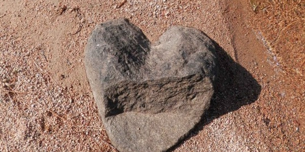 Nature's Art--Heart Shaped Rock Found at Northern Lights Lodge and Resort – Marie Vogt