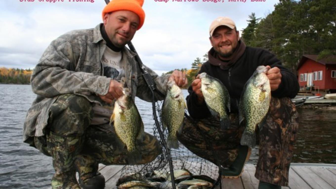 slab crappies right off the dock – Tom Pearson