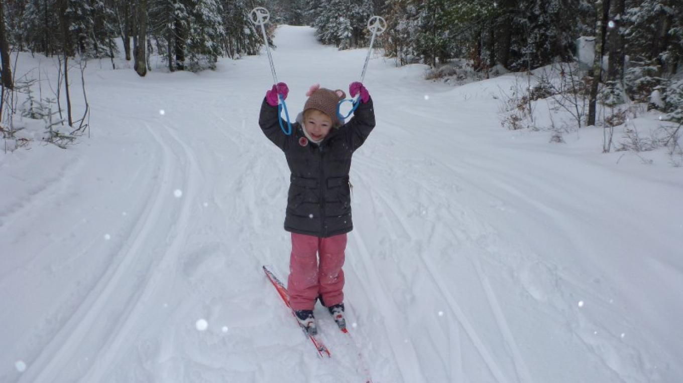 One of our little skiers! – Rainy Lake Nordic Ski Club