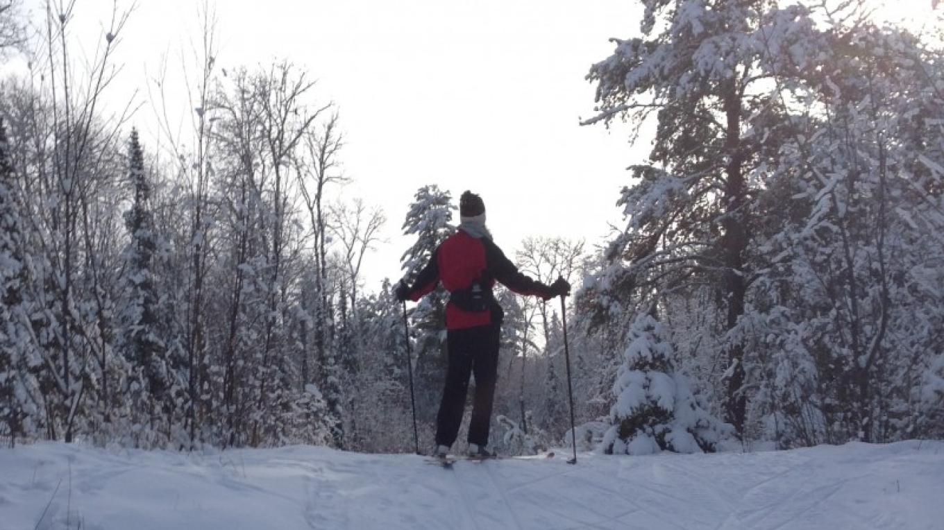At the crest! – Rainy Lake Nordic Ski Club