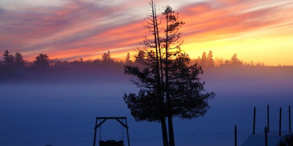 Ice Fog from the beach – Northernair Lodge