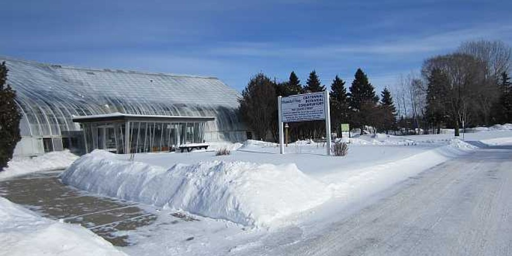 It way be cold and snowy outside, but making a trip to the Centennial Botanical Conservatory is a great repreve to relax for an hour or two if visiting Thunder Bay in the winter months. – Bonnie Schiedel