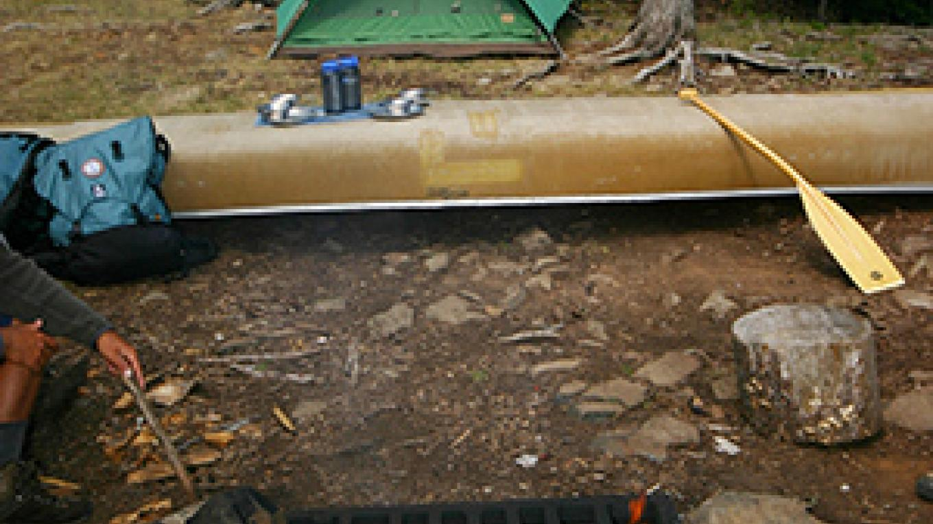 BWCA camp site ready to cook dinner – B Kerfoot