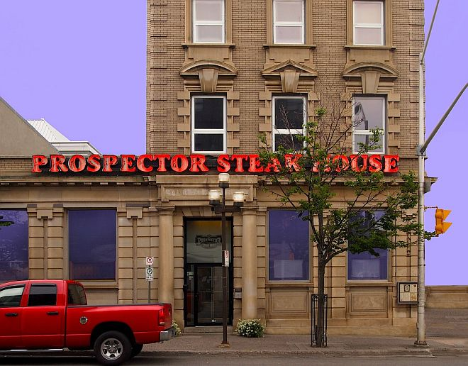 The Prospector Steak House is located on South Cumberland Street in the heart of Thunder Bay's Waterfront District. – Duncan Weller